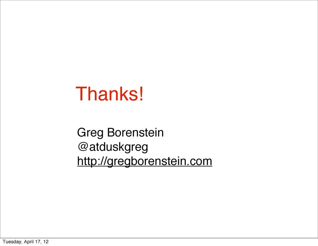 Greg Borenstein @atduskgreg http://gregborenste...