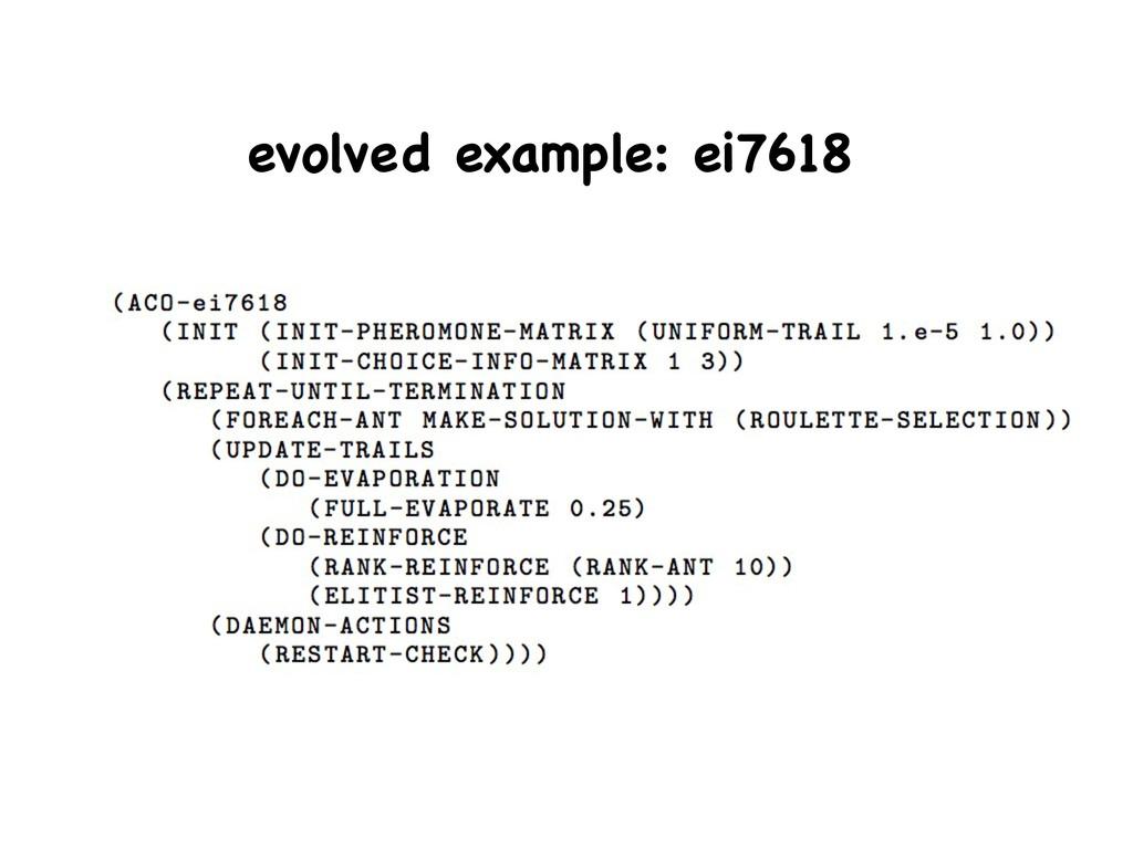 evolved example: ei7618
