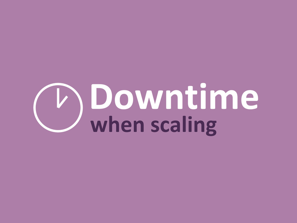 Downtime when scaling
