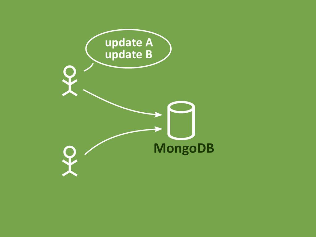 MongoDB update A update B