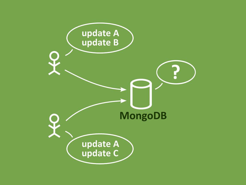 MongoDB update A update B update A update C ?