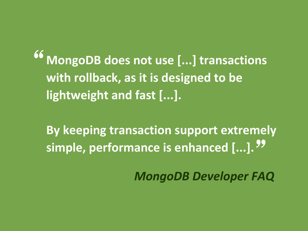 MongoDB does not use [...] transactions with ro...