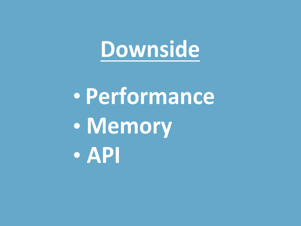 Downside Performance Memory API