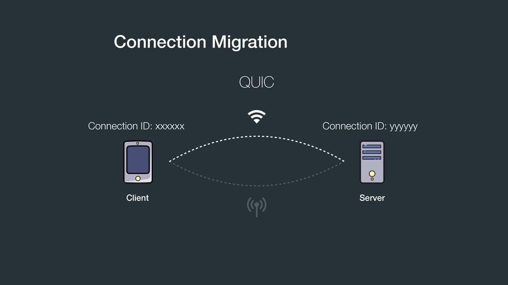 Connection Migration QUIC Connection ID: xxxxxx...