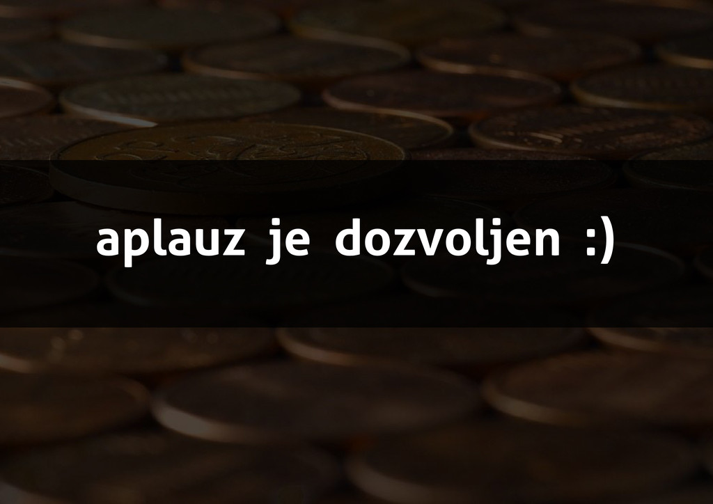 aplauz je dozvoljen :)