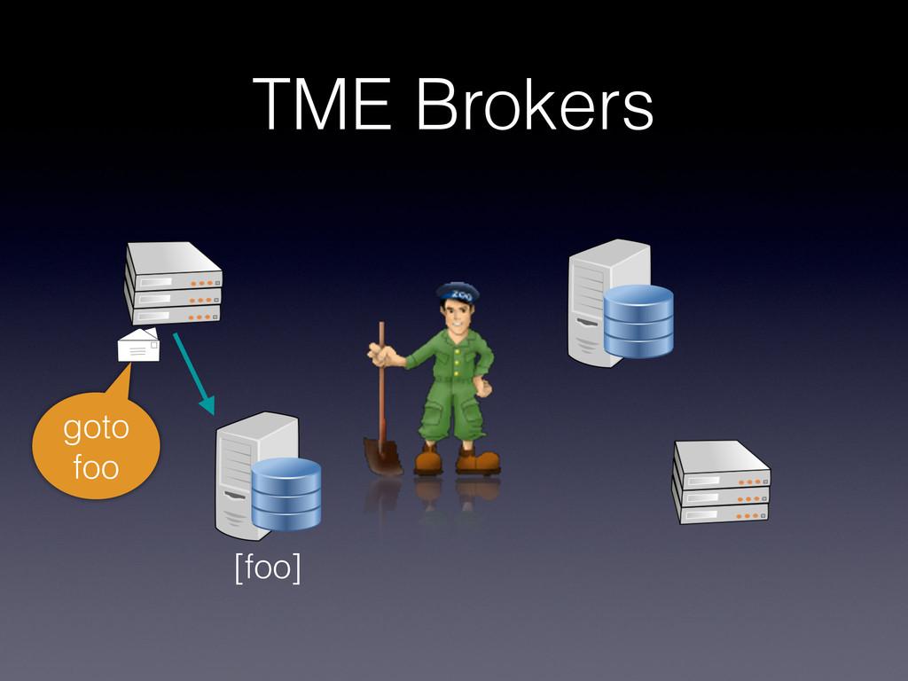TME Brokers goto foo [foo]