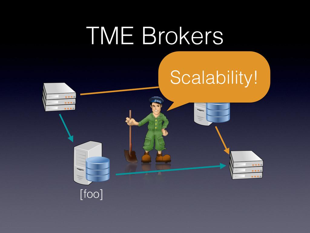 TME Brokers [foo] [bar] Scalability!