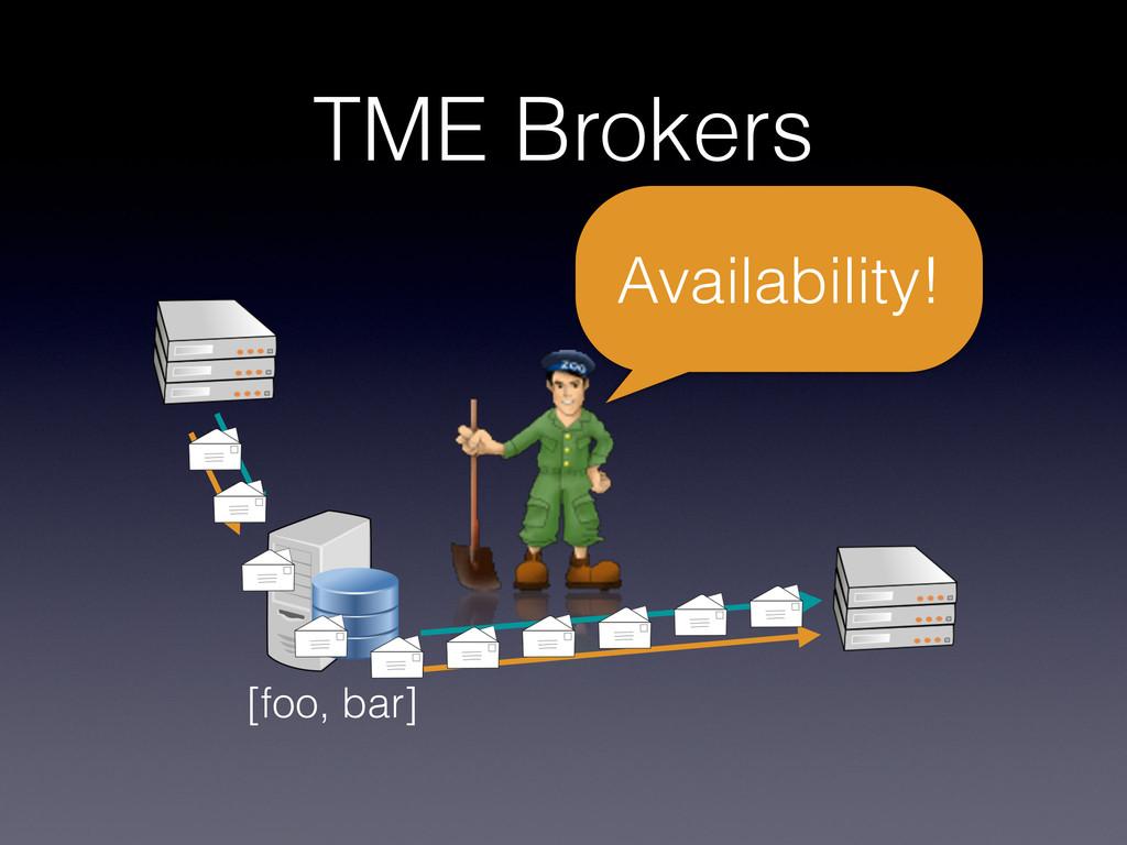 TME Brokers [foo, bar] Availability!