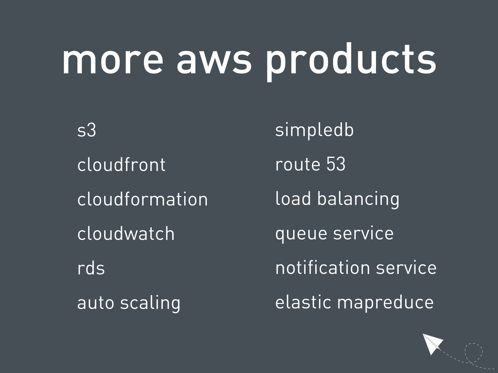 more aws products s3 cloudfront cloudformation ...