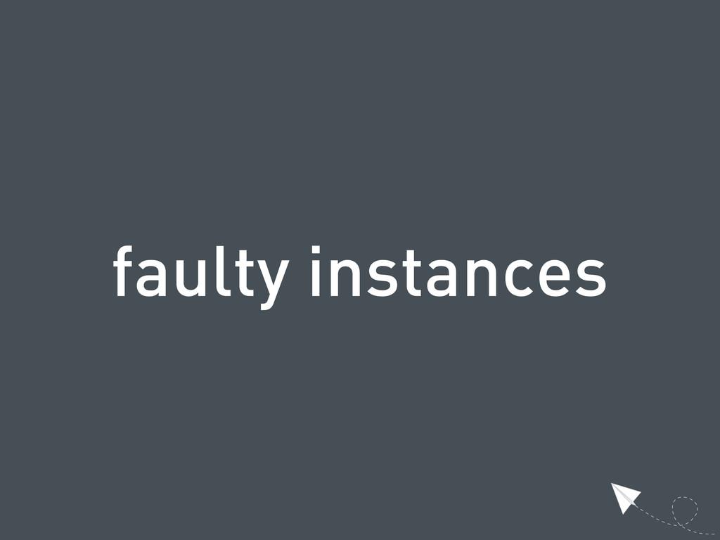 faulty instances