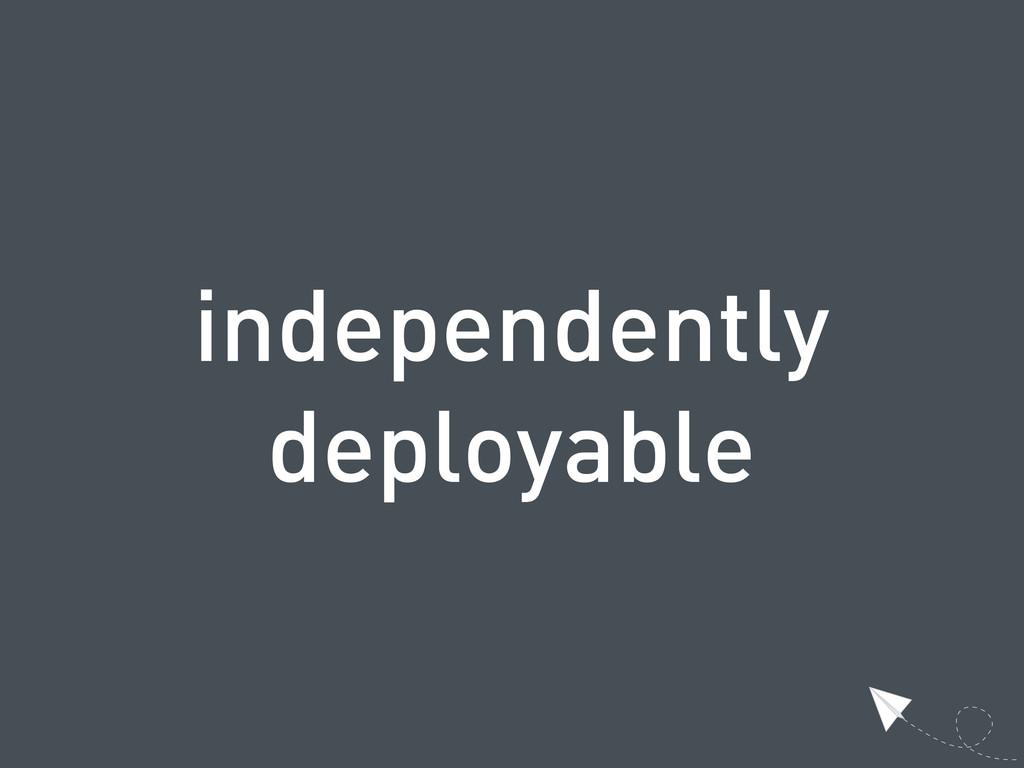 independently deployable
