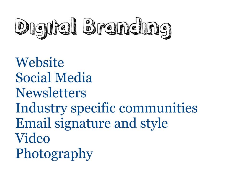 Digital Branding Website Social Media Newslette...