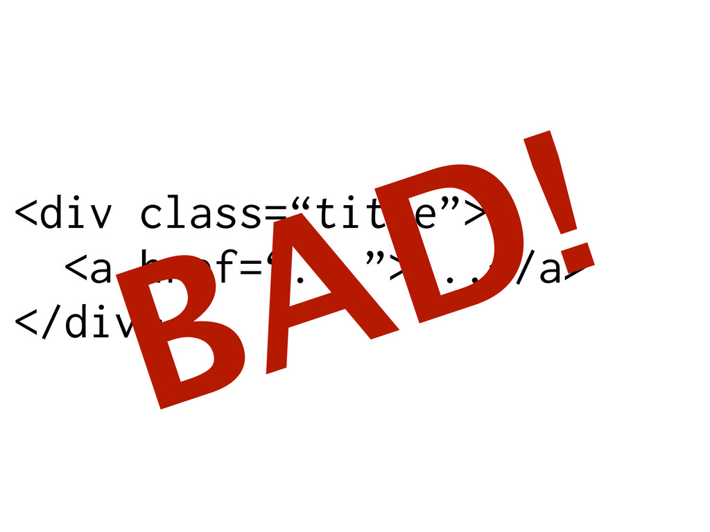 "<div class=""title""> <a href=""..."">...</a> </div..."