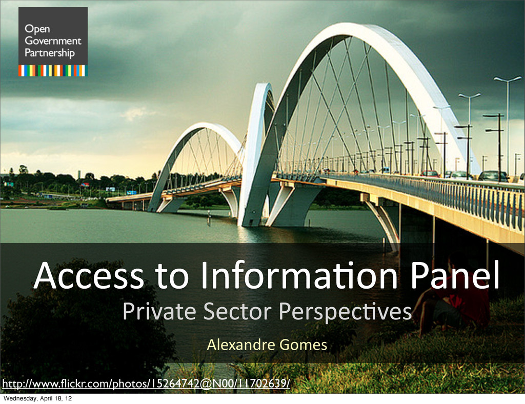 Private Sector Perspec.ves http://www.flic...