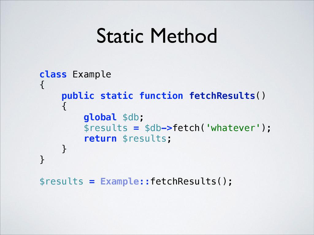 Static Method class Example { public static f...