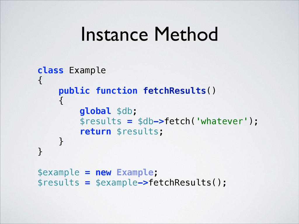 Instance Method class Example { public functi...