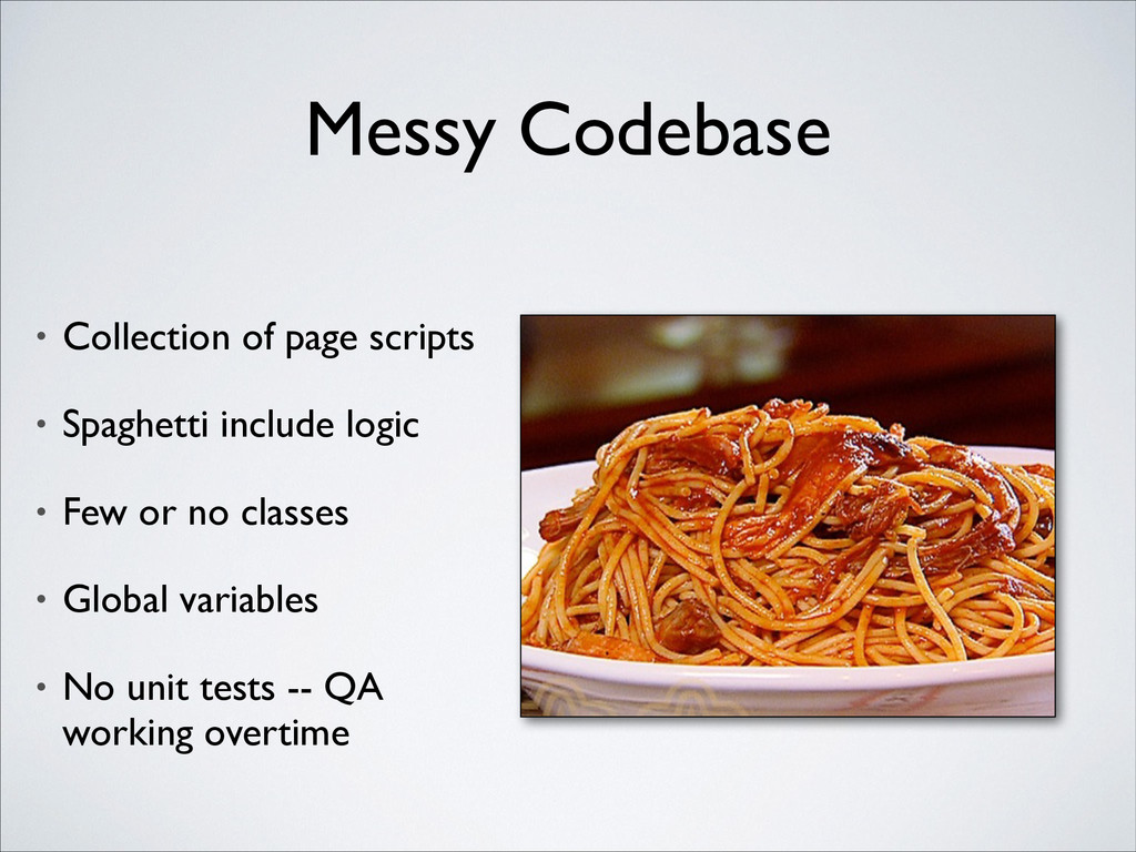 Messy Codebase • Collection of page scripts  ...