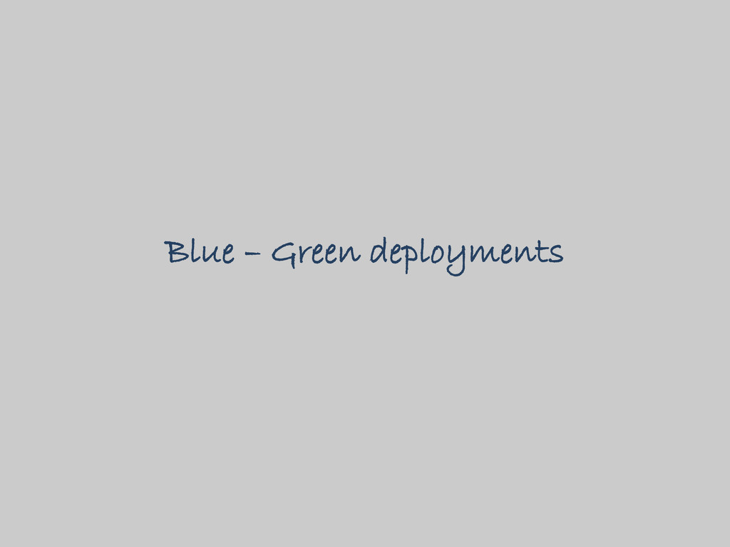 Blue – Green deployments
