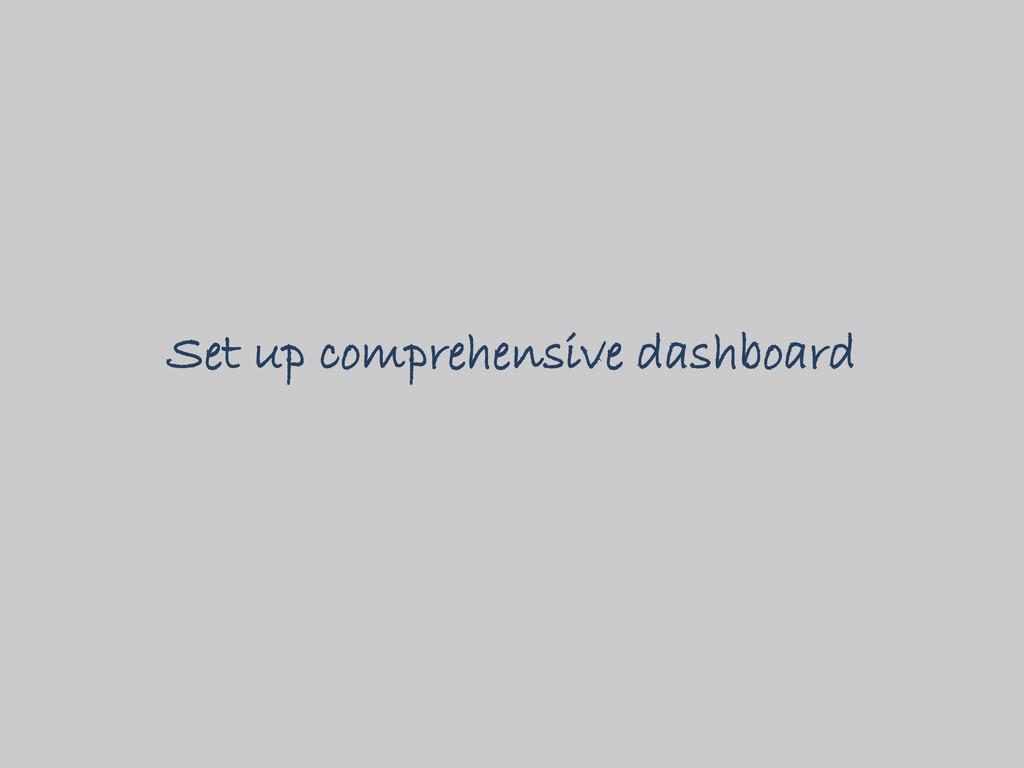 Set up comprehensive dashboard