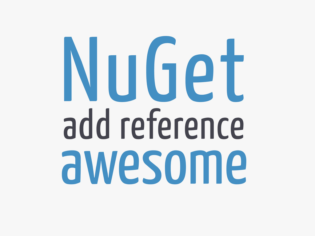 NuGet awesome add reference