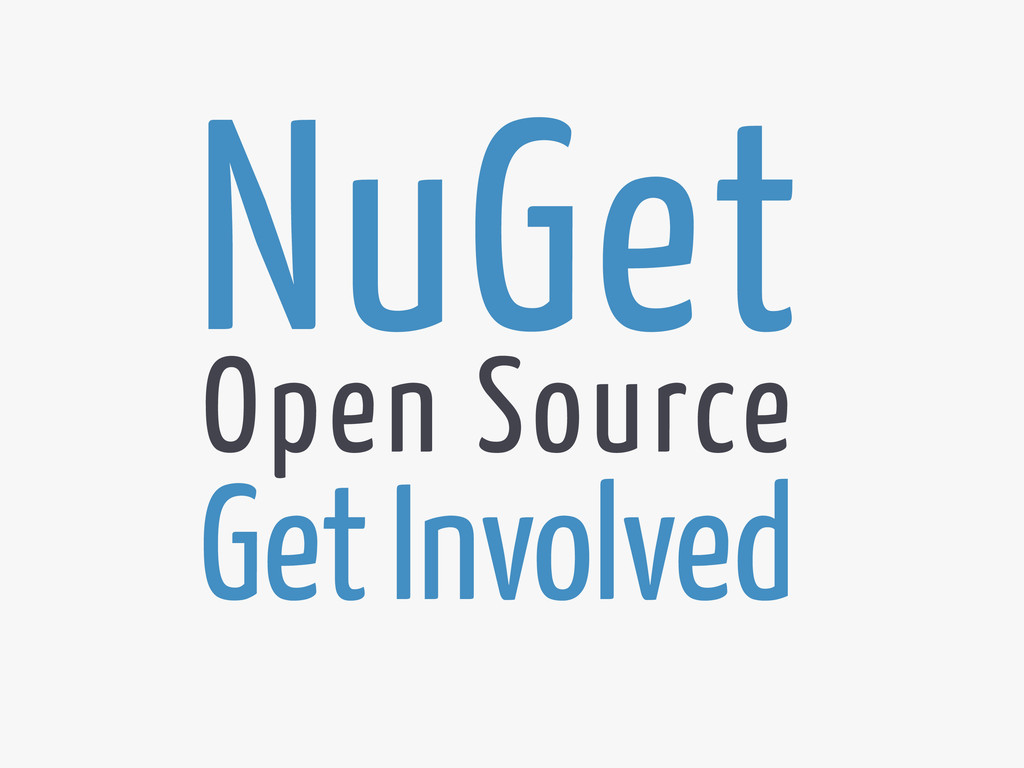 NuGet Get Involved Open Source