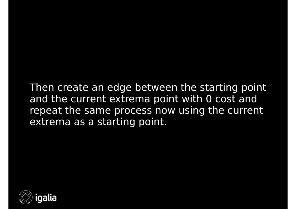 Then create an edge between the starting point ...