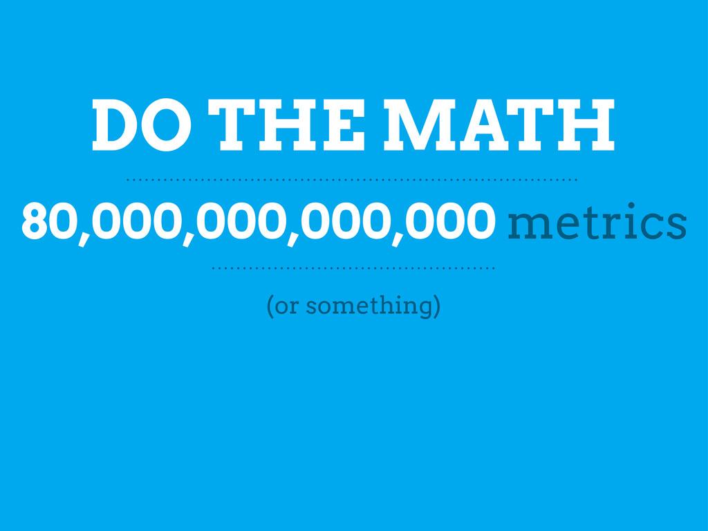 DO THE MATH 80,000,000,000,000 metrics (or some...