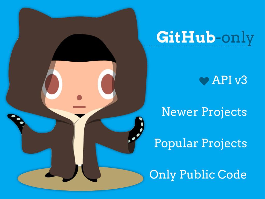 GitHub-only k API v3 Newer Projects Popular Pro...