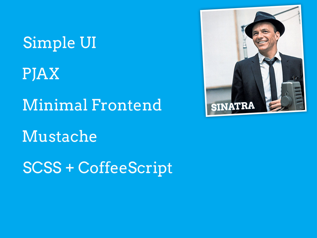 Simple UI SINATRA PJAX Minimal Frontend Mustach...