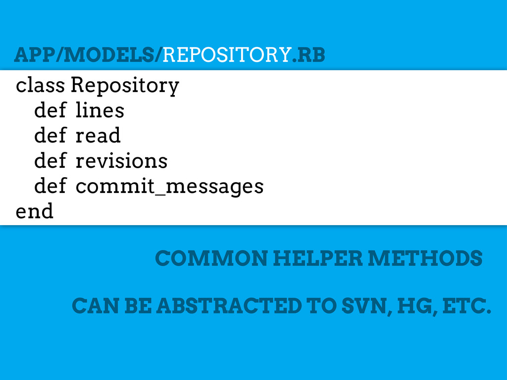 class Repository def lines def read def revisio...