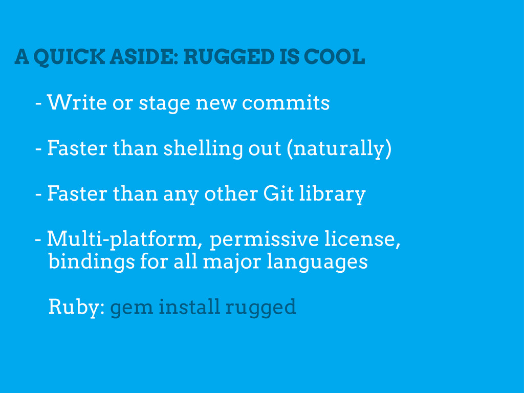 A QUICK ASIDE: RUGGED IS COOL - Faster than she...