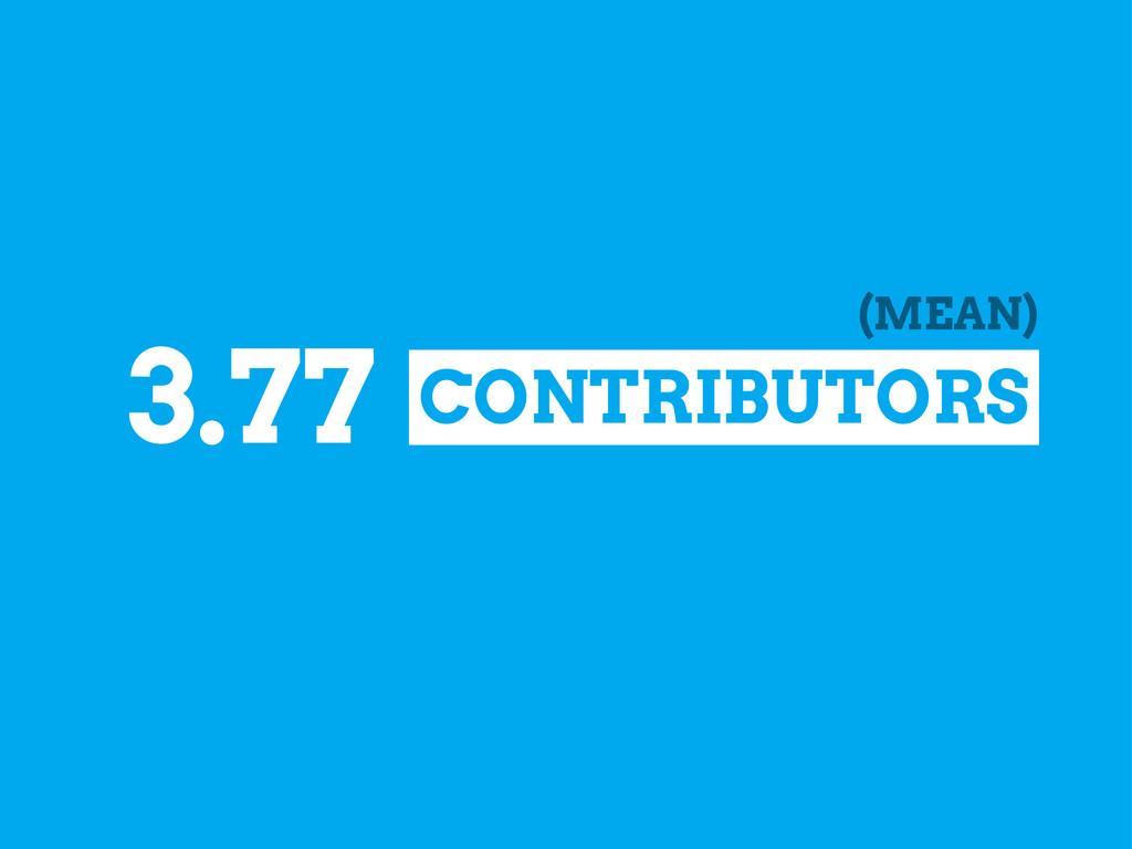 CONTRIBUTORS 3.77 (MEAN)