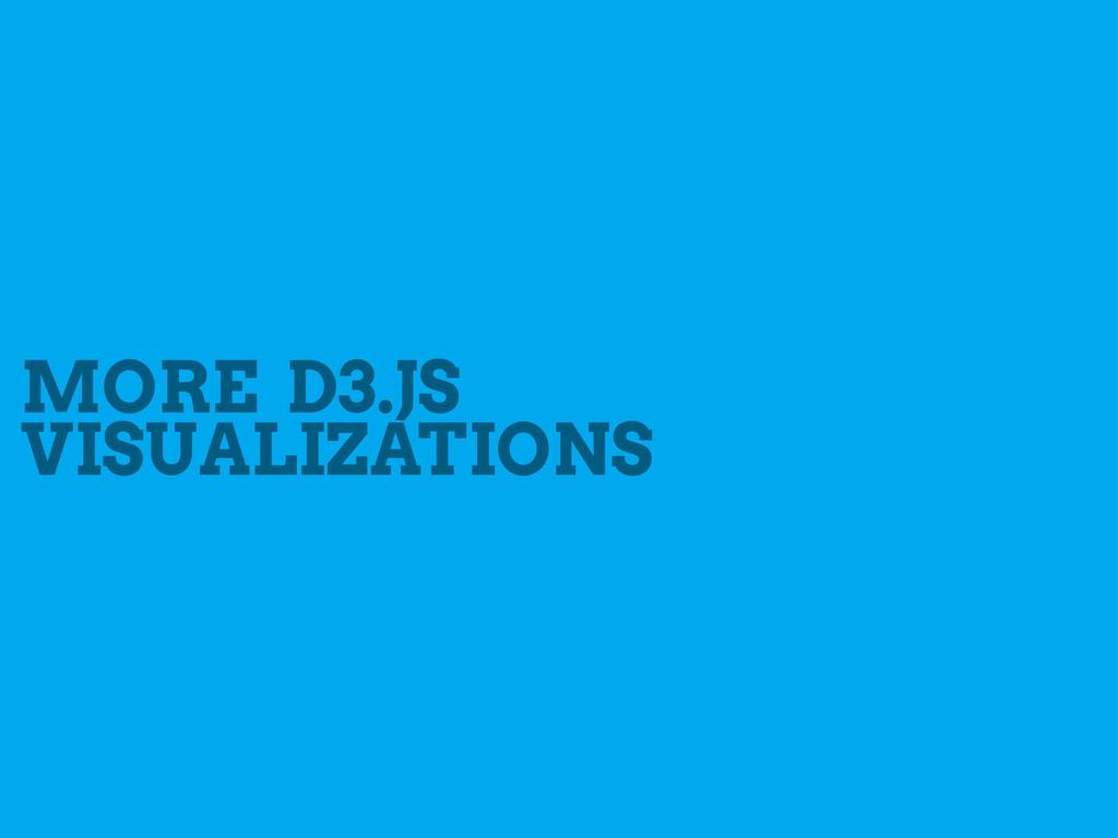 MORE D3.JS VISUALIZATIONS