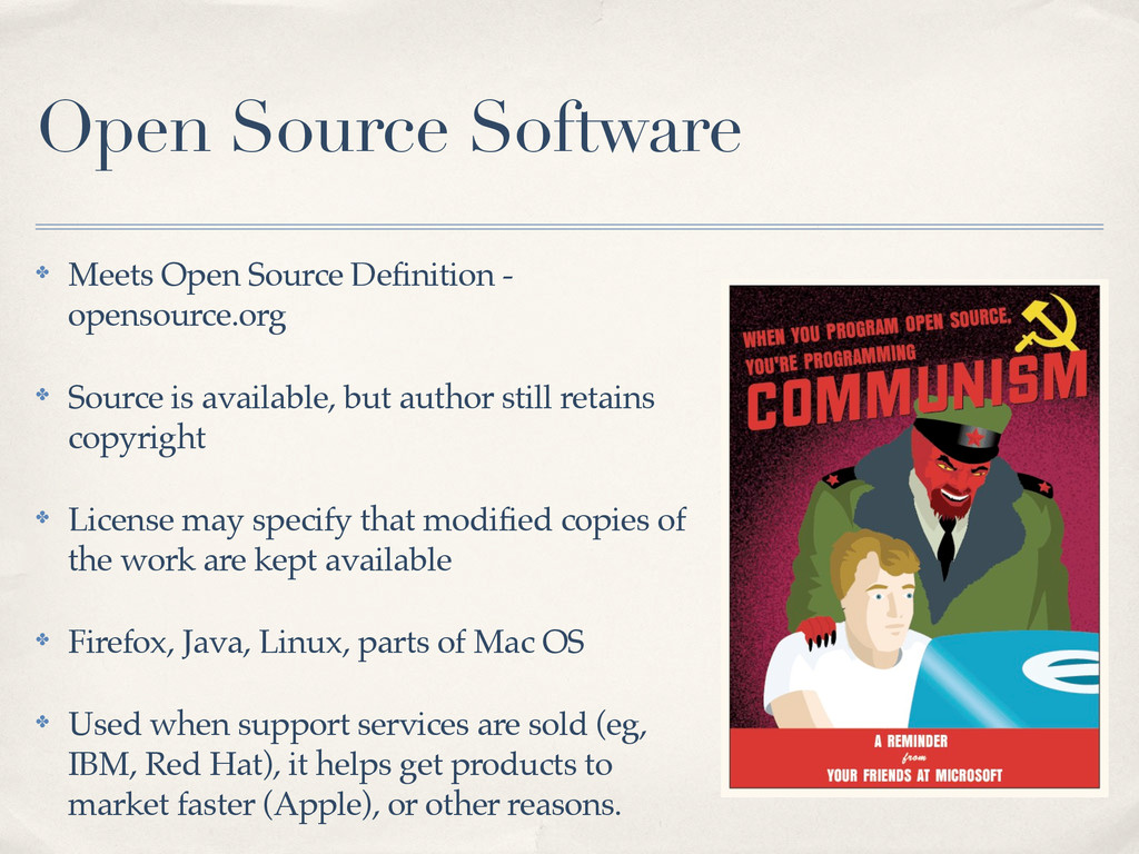 Open Source Software ✤ Meets Open Source Defini...