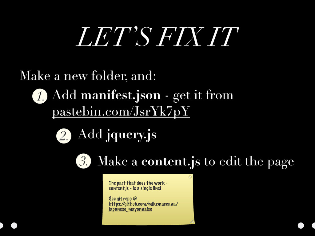 LET'S FIX IT 2. 1. 3. Make a new folder, and: A...