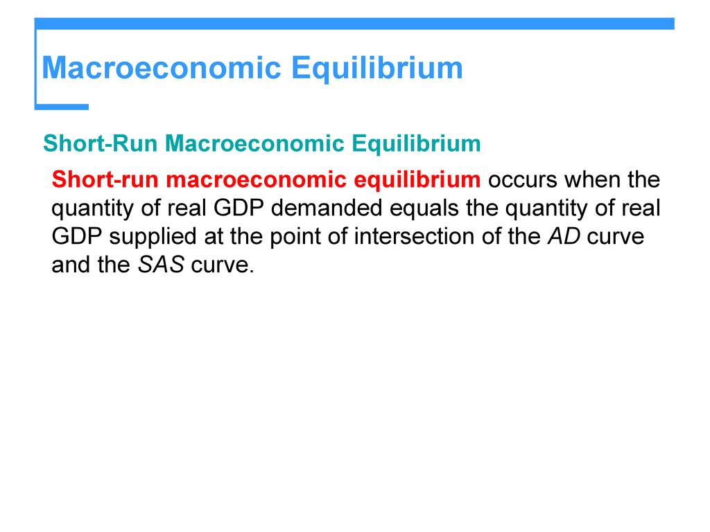 Macroeconomic Equilibrium Short-Run Macroeconom...