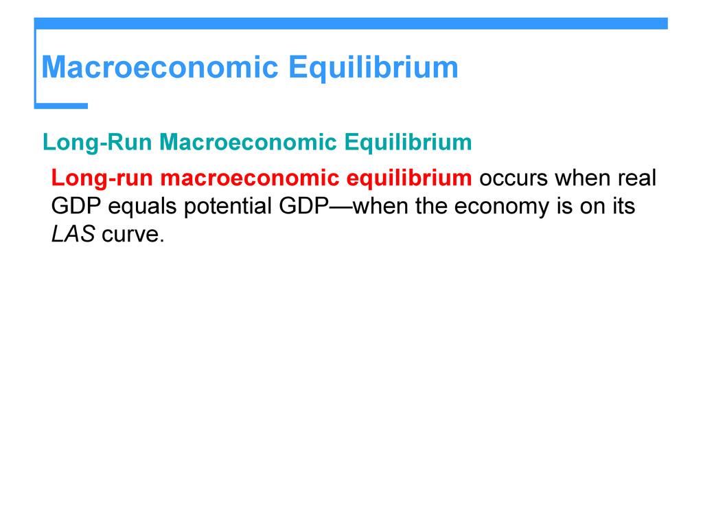 Macroeconomic Equilibrium Long-Run Macroeconomi...