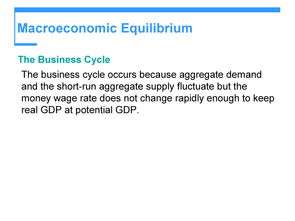 Macroeconomic Equilibrium The Business Cycle Th...