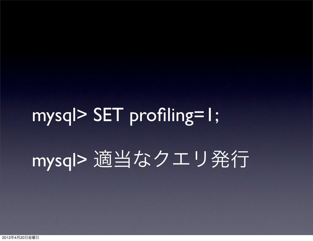 mysql> SET profiling=1; mysql> దͳΫΤϦൃߦ 20124݄2...