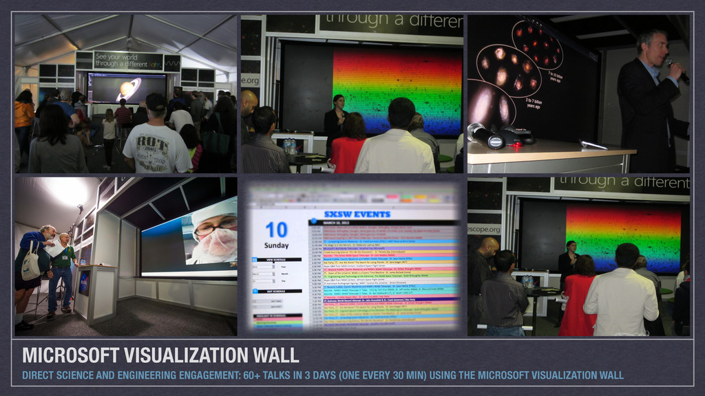 MICROSOFT VISUALIZATION WALL DIRECT SCIENCE AND...