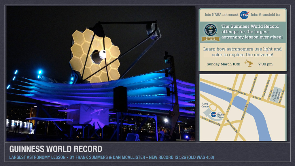 GUINNESS WORLD RECORD LARGEST ASTRONOMY LESSON ...
