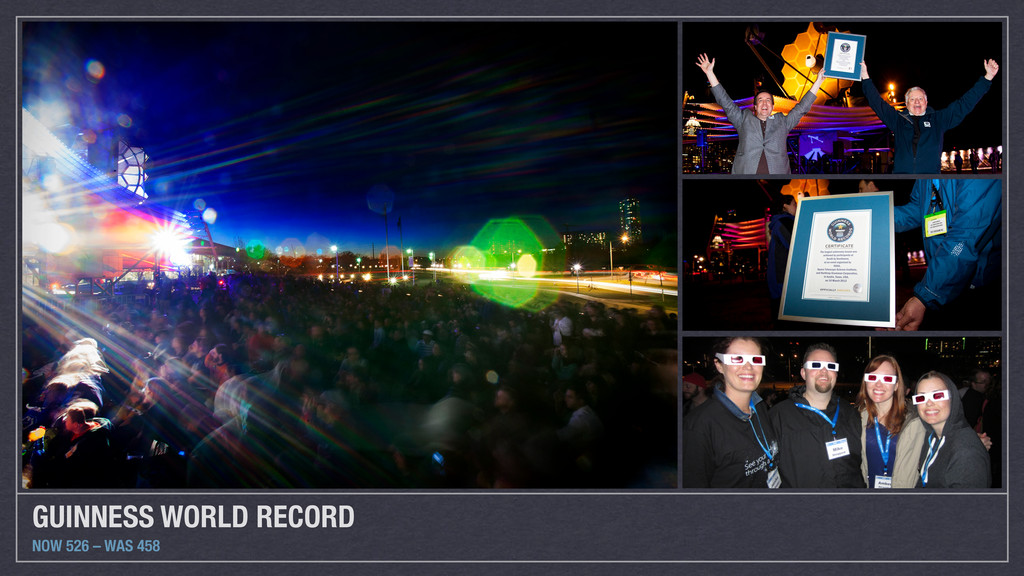 GUINNESS WORLD RECORD NOW 526 – WAS 458