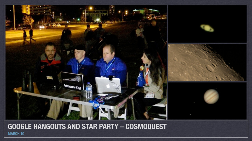 GOOGLE HANGOUTS AND STAR PARTY – COSMOQUEST MAR...