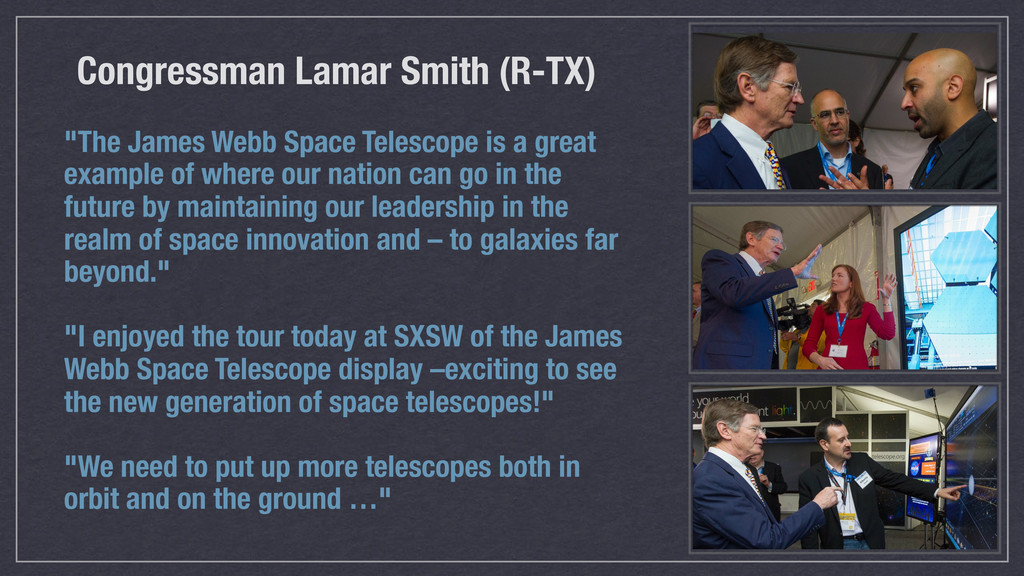 """""""The James Webb Space Telescope is a great exam..."""