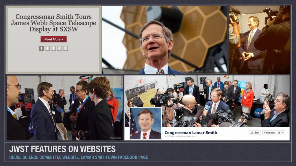 JWST FEATURES ON WEBSITES HOUSE SCIENCE COMMITT...