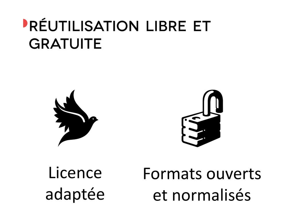 ◗ Licence adaptée Formats ouverts et normalisés