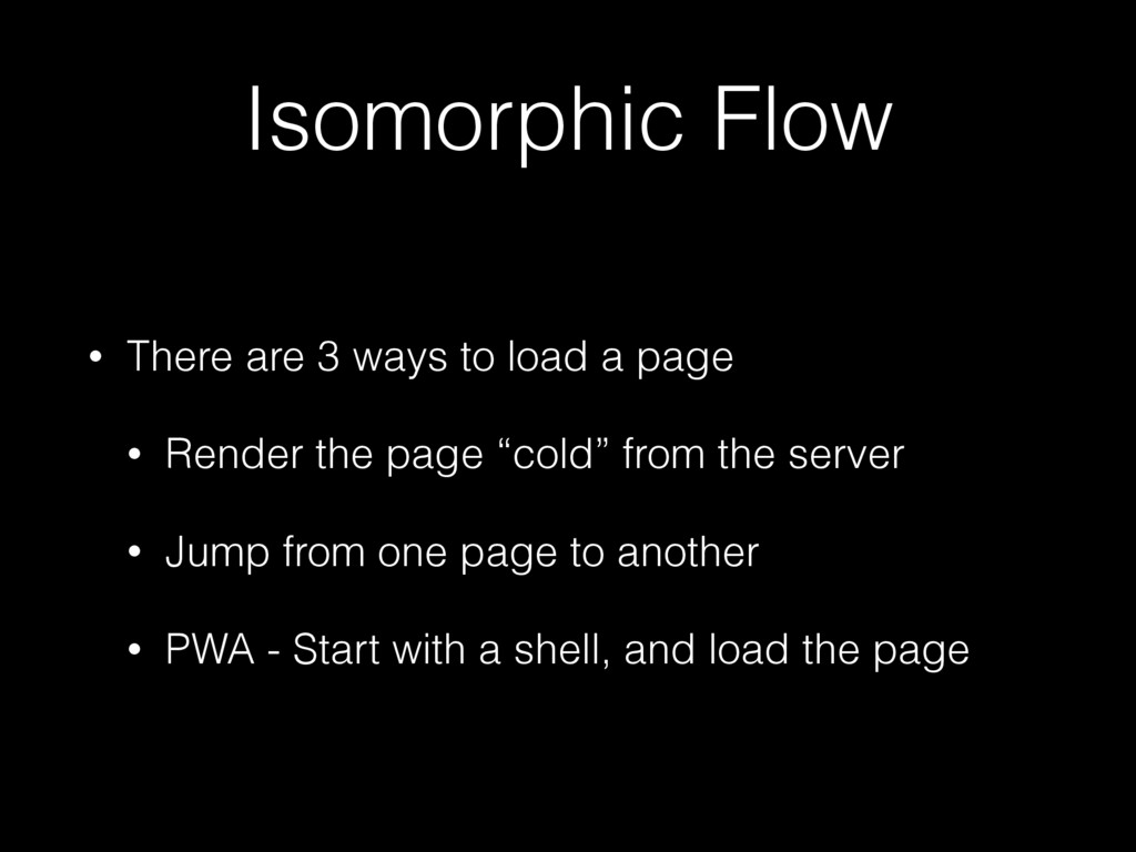 Isomorphic Flow • There are 3 ways to load a pa...