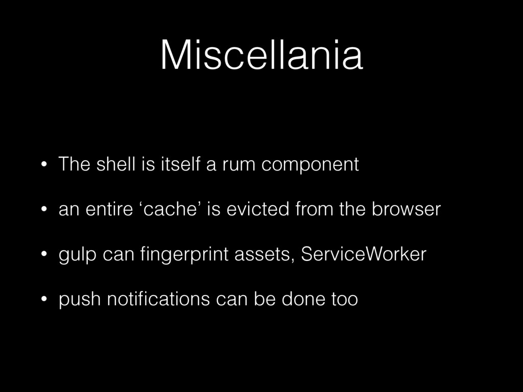 Miscellania • The shell is itself a rum compone...