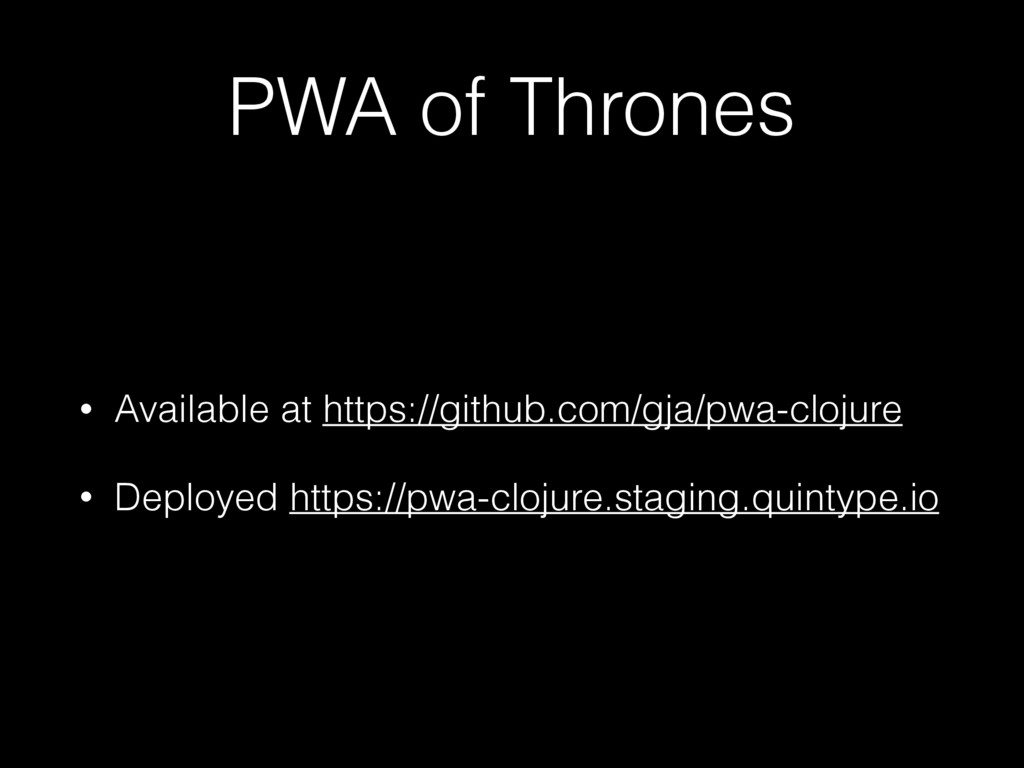 PWA of Thrones • Available at https://github.co...