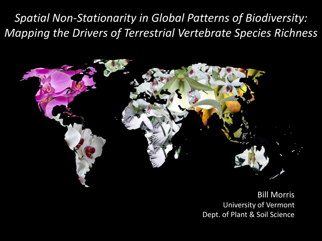 Spatial Non-Stationarity in Global Patterns of ...